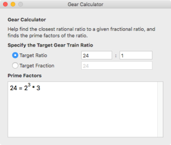Using the Gear Calculator – Glenview Software