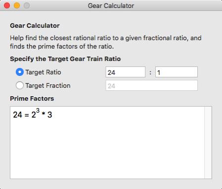 Gear Calculator 1