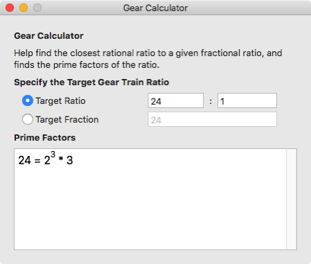 Gear Calculator 1