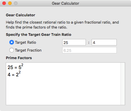 Gear Calculator 2
