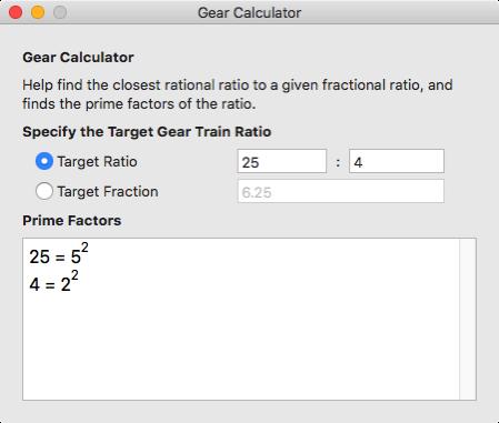 Gear Calculator 2