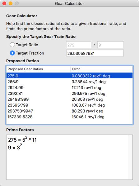 Gear Calculator 3